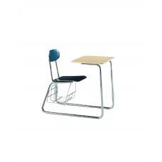 Combo Desk Hp Seat/Back Ki Ivy League Series 58 Sled Base No Bookrack Chr Frame Select Seat/Back Color Select Top Color