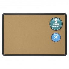 Bulletin Boards W/ Plastic Frame 4X3 Natural Cork