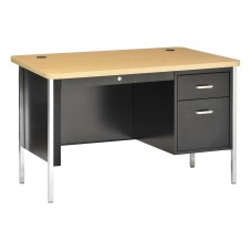 Desk Single Ped 30X60X29H Round Corners Central Locking Specify Top And Base Colors