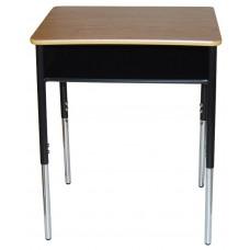Desk Open Front R900 Series 18X24 Adj Ht - Select Solid Plastic Top Color - Select Frame Color