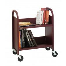 Library Cart Bretford Slant Shelf Booktruck 28Wx13Dx24.5H Specify Color