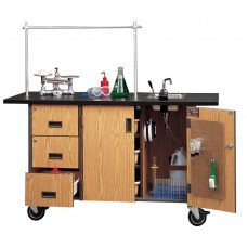 Science Deluxe Lab Station W/ Sink 60Wx34Hx23D Specify Cabinet And Trim Colors