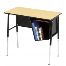 Desk - Royal 1800 Junior Executive - 20X36 Laminate Top - 22.5 - 33.5 Adj Height - Right Hand Bookbox - Black Frame - Specify Top Color