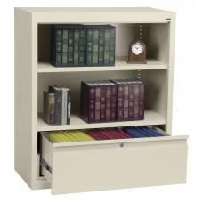 Bookcase 36X18X72 With File Drawer Specify Color