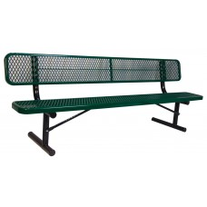 Bench 8' W/ Back Diamond Specify Mount Option And Color