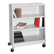 Mobile 4 Shelf Bookcase 36 X 18 X 60 Specify Color