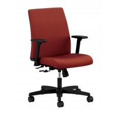 Chair Ignition Task Low Back Swivel Tilt 36Dx27.5Wx41H Black Frame Black Base Uphol Back Gr1 Fabric Adjustable Arm Select Caster Fabric