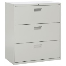 Lateral File Cabinet Sandusky Lee 600 Series 42W Three Drawer Specify Color