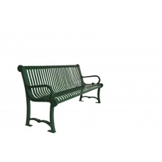 6 Foot Charleston Bench - Wave Pattern - Specify Color