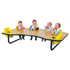 Toddler Table 6 Seat - Select Seat Color - Select Table Top Color - Select Height