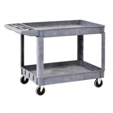 Utility Cart 2 Shelf Plastic 40W X 17D X 33H Gray
