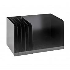 Bookrack 5 Adjustable Dividers 15 X9 1/4 X 9 1/4 Black