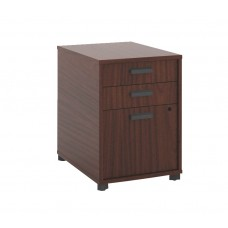 Basyx By Hon Manage Pedestal File - 2 Pencil Drawers / 1 File Drawer - 15-3/4''W X 21''D X 22''H - Chestnut Finish