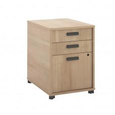 Basyx By Hon Manage Pedestal File - 2 Pencil Drawers / 1 File Drawer - 15-3/4''W X 21''D X 22''H - Wheat Finish