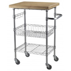Wire Carts 24''W X 20''D X 36''H Mobile Chrome
