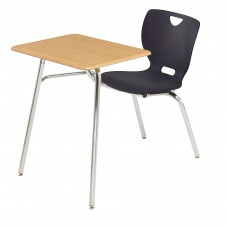 Desk - Cs Neoclass Combination - 20 X 26 Hard Plastic Top - Soft Plastic Shell 18 - No Bookrack - Chrome Frame - Specify Top Color - Specify Shell Color