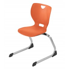 Chair - Cs Neomove Elliptical Cantilever  - Soft Plastic Shell 14 A - Chrome Frame - Specify Shell Color - Specify Glide