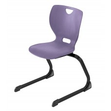 Chair - Cs Neomove Elliptical Cantilever  - Soft Plastic Shell 16 A - Black Frame - Specify Shell Color - Specify Glide