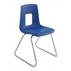 Chair - Cs Traditional Sled Base - Soft Plastic Shell 18.5 A+ - Chrome Frame - Specify Shell Color