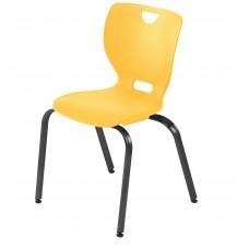 Chair - Cs Neomove Elliptical Four Leg - Soft Plastic Shell 18 A+ - Black Frame - Specify Shell Color - Specify Glides