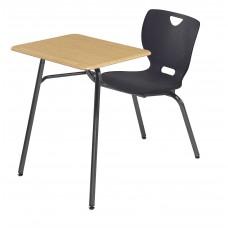 Desk - Cs Neoclass Combination - 20 X 26 Hard Plastic Top - Soft Plastic Shell 18 - No Bookrack - Black Powdercoat Frame - Specify Top Color - Specify Shell Color