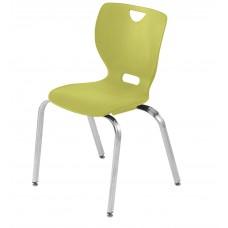 Chair - Cs Neoclass Elliptical Four Leg  - Soft Plastic Shell 18 A+ - Chrome Frame - Specify Shell Color - Specify Glide