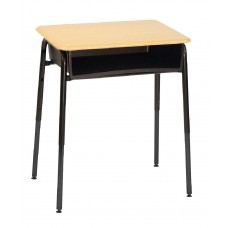 Desk - Royal 1600 A+ Open Front - 20 X 26 Hard Plastic Top - Metal Bookbox - 22.5 -33.5 Adj Height - Black Four Leg Frame - Specify Top Color