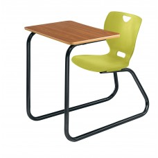 Desk - Cs Neoclass Sled Base Combination - 20 X 26 Laminate Top - Soft Plastic Shell 18 - Black Powdercoat Frame - Specify Top Color - Specify Shell Color