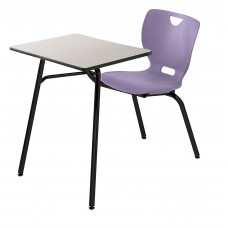 Desk - Cs Neoclass Combination - 18 X 24 Laminate Top W/ Bbkack Lockedge - Soft Plastic Shell 18 A+ - No Bookrack - Black Powdercoat Frame - Specify Top Color - Specify Shell Color