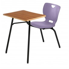 Desk - Cs Neoclass Combination - 20 X 26 Laminate Top - Soft Plastic Shell 18 - No Bookrack - Black Powdercoat Frame - Specify Top Color - Specify Shell Color