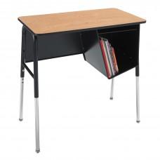 Desk - Royal 1800 Junior Executive - 20X36 Laminate Top - 22.5 - 33.5 Adj Height - Left Hand Bookbox - Black Frame - Specify Top Color