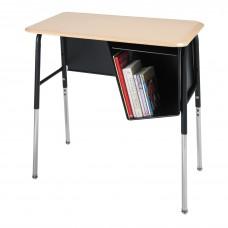 Desk - Royal 1800 Junior Executive - 20X36 Hard Plastic Top - 22.5 - 33.5 Adj Height - Left Hand Bookbox - Black Frame - Specify Top Color