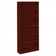 Bookcase 6-Shelf 4-Adjustable 84H Mahogany Hon1877N