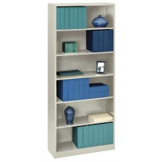 Bookcase 6-Shelf 34.5Hx81Wx12.625D Light Gray Hons82Abcq