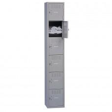 Locker Box 6-Tier 1 Wide Medium Gray Tnnbs6121812Amg