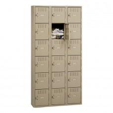 Locker Box 6-Tier 3 Wide Sand Tnnbs6121812Csd
