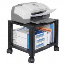 Stand Mobile Printer 2 Shelf Black