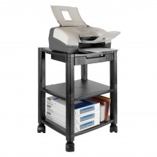 Stand Mobile Printer 3 Shelf Black