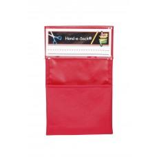 Organizer Hand-E-Sack 6.25 X 10 In Red