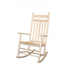 Chair Rocker Adult Assembled Natural Finish