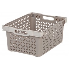 Storage Deep Decoartive Basket With Handles Tan