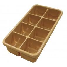 Tray Tote Tray Compartment Plastic 19X9.5X3.5 Tan