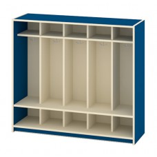 Locker Unit Early Learning - 10 Student With Seat, Double Hooks, 54W X 16D X 48H - Specify Color