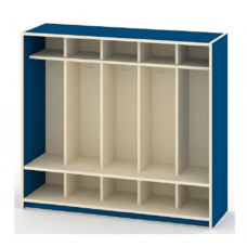 Locker Unit Early Learning - 10 Student, Double Hooks, 54W X 16D X 48H - Specify Color