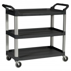 Utility Cart Rubbermaid Commercial Products Multipurpose Multi Purpose Carts 3-Shelf
