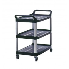 Mobile Utility Cart 300 Lb. Cap 40 3/5''X20''X37 4/5'' Black