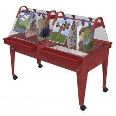 Easel Dbl Paint N Dry Youth-Red