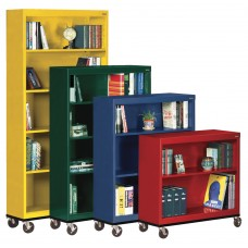 Bookcase Sandusky Lee Steel Mobile 2 Shelves 36Wx18Dx36H Specify Color