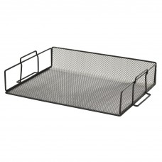 Tray Black Metal Mesh Stackable Letter Tray