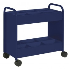Cart - Everything Cart - 18 D X 36 W X 36 H - 2 Shelf - W/6 Bins Navy